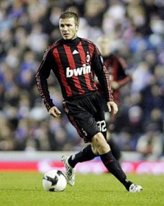 David Beckham, able to play in neither?