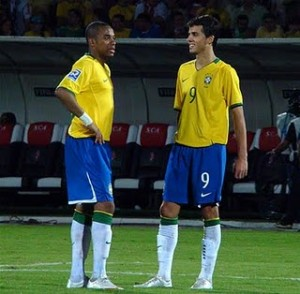 Robinho and Nilmar