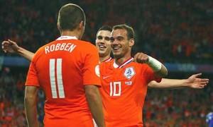 Robben, Sneijder and van Persie